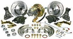1962 64 Chevy Ii Nova Complete Front Booster Disc Brake Kit Drop Spindle