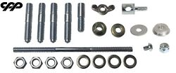4bbl Carburetor Manifold Install Kit Air Cleaner Stud Carb Linkage Clevis Holley