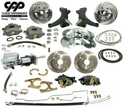 71 72 Chevy C10 Front And Rear Brake Kit Modular Drop Spindle 6 Lug Show Stopper