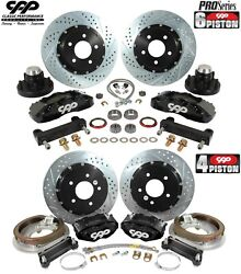 1964-72 Buick Gs Olds 442 14 / 13 Front Rear Big Brake Disc Conversion Kit