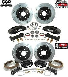 1964-72 Buick Gs Olds 442 C5 14 Front 13 Rear Big Brake Disc Conversion Kit
