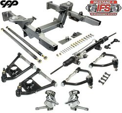 1962-67 Chevy Nova Front Ifs Mustang 2 Front End Crossmember Component Kit Drop