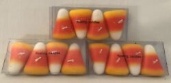 Vintage Halloween 12 3 Packages Of 4 Candy Corn Floating Candles Rare