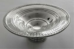 Antique Sterling Silver Pedestal Comport Crown Silversmith United States C 1800s