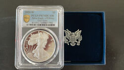 2020 W End Of Wwii 75th Anniversary Silver Eagle V75 Pcgs Pf70 First Strike