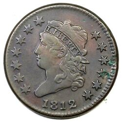 1812 S-290 Sm Date Classic Head Large Cent Coin 1c