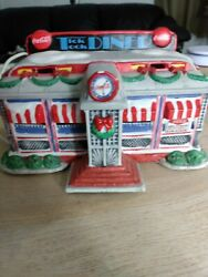 Tick Tock Diner 1993 Coca Cola Town Square Collection Christmas Village, Lighted