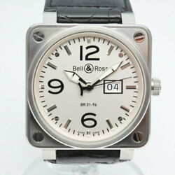 Bell And Ross Br01-96w Meter Date Self-winding Menand039s Watch Date Display White Dial