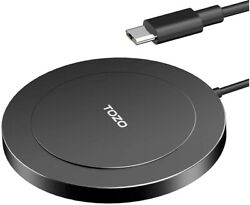 Tozo W6 Wireless Charger Fast Charging Pad Thin And Built-in Magnets Compatible