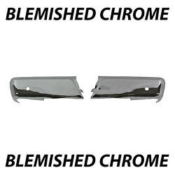 Blemished Chrome Rear Lh/rh Bumper Face Bars For 2015-2020 Ford F-150 W/ Park