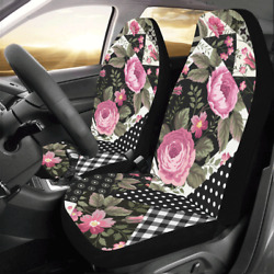 2 Pcs Front Car Seat Covers Cushions Seat Protector Auto Interior Accessories