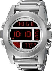Nixon Unit Stainless Steel Digital Silver Menandrsquos Watch A360-1263/ A360-1263-00