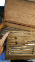 Vintage Us Navy Straight Flute Hand Reamer Master 34 Piece Set 1/4andrdquo To 1-1/4andrdquo