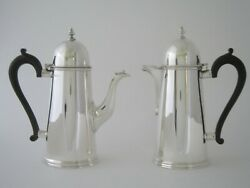 Antique Sterling Silver Cafe-au-lait Pots - 1929/1930 By Pairpoint Brothers