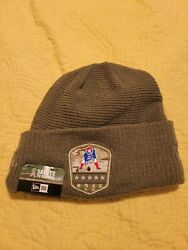 New England Patriots New Era Nfl Salute To Service Knit Cuff Lined Beanie Hat Us