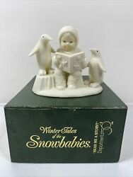 Snow Babies 'read Me A Story' Penguin Book Snowbabies Figurine - In Box