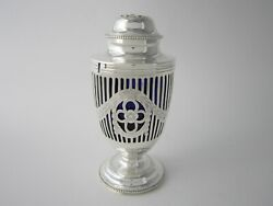 Antique Sterling Silver And Glass Sugar Caster - 1928 By Goldsmiths And Silversmiths