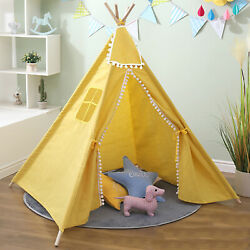 Large Kids Indian Play Tent Princess Teepee Sleeping Play House Toy Gift