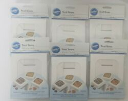 New Lot Of 6 Wilton Treat Boxes 1.5 X 4.5 X 4.5 With Stickers