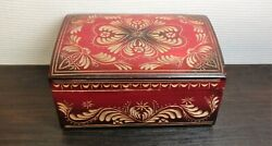 Vintage Casket Box Tree Wood Cultures And Ethnicities Wood Carving Ussr Soviet 2 A
