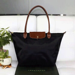 Brand New Longchamp New Le Pliage Nylon Tote Handbag Black bag Large $39.99