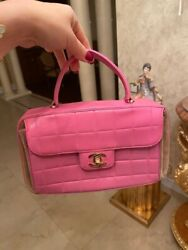 Chanel VINTAGE pink Bag With Top Handle And Gold Hardware $2650.00
