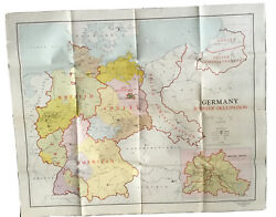 Ww2 Map Of Germany Zones Of Occupation 1947 Armed Forces Map Wwii
