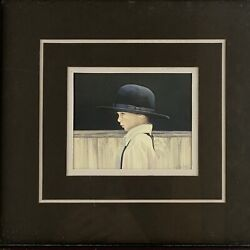 N.a. Nancy Noel Amish Art Print Framed And Double Matted Picture Amish Boy Signed