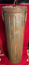 Very Rare 17cm Ww2 German Steel Cannon Charge Tube Kl.mrs.laf - Original Paint
