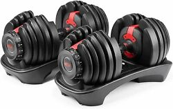 Bowflex Selecttech 552 Two Adjustable Dumbbells Pair Fast Shipping New Sealed