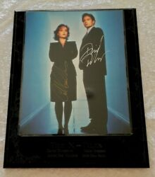 X-files Mulder And Scully Signed Autographed Plaque Rare 10 X 12 Aprox