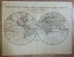 World Map California As An Island 1674 Giacomo Rossi Large Antique Map