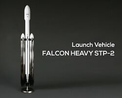 Handmade Spacecraft Launch Spacex Stp-2 Falcon Heavy Launch Vehicle 1/50 V.2