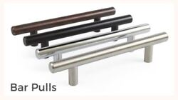 5, 10 - 20 Pack Solid Bar Pull Kitchen Cabinet Door Handles - Multiple Finishes