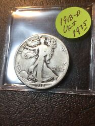 1918-d Walking Liberty Half Vg+ See My Listings For Walkers And Silver Dollars