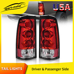 For 99-02 Chevy Silverado Gmc Sierra 1500/2500/3500 Red Clear Rear Lamps Landr Us