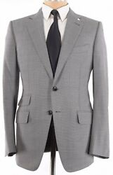 Tom Ford Nwt Sport Coat Size 44l In Black And Light Gray Melange Wool O'connor