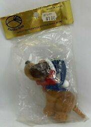 Vintage Hound Dog with Hat and Scarf Christmas Ornament Pacific Rim
