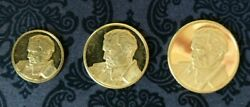 Set Of 3 Gold Coins Josip Broz Tito Yugoslavia 30 Years Liberation From Fascism