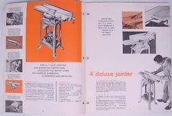 Vintage 1950s 1960s Rockwell Delta Industrial Power Tools Machine Catalogs