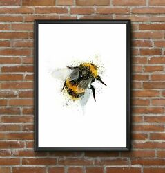Bumble Bee Poster No Frame Art Style Decor Home Decor Poster For Gift