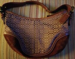 COACH Jacquard HOBO Small SOHO Suede Accent Purse 6351 $22.00