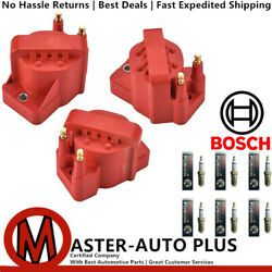 Performance Ignition Coil And Bosch Ir Fusion Platinum Spark Plug For Buick Allure