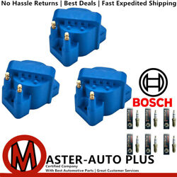 Energy Ignition Coil Set And Bosch Platinum Fusion Ir Spark Plug For Buick Allure