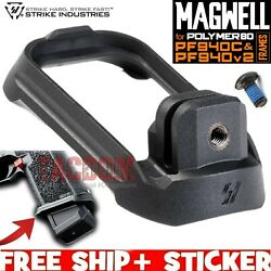 Strike Industries Magwell For Polymer80 P80 Pf940c And Pf940v2 Frames Black Poly