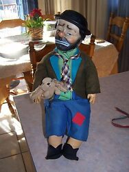 Vintage 17 Emmett Kelly Weary Willie The Clown Doll Baby Barry Toy Nyc Hobo