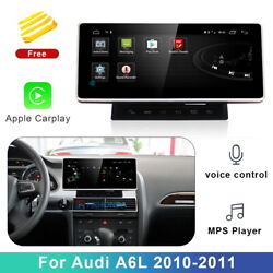 Android 10 Car Gps Video Navi Wifi + Wireless Carplay For Audi A6 A6l 2010 2011