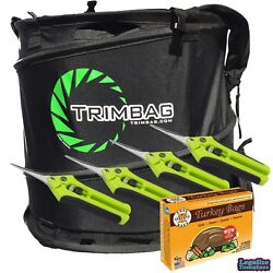 Trimbag Hand-held Collapsible Dry Trimmer W/ 4 Free Scissors And 10 Turkey Bags