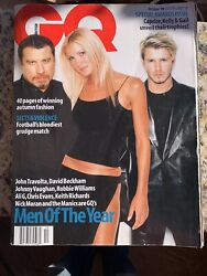 Gq October 1999 Men Of The Year Keith Richards And John Travolta And Robbie William