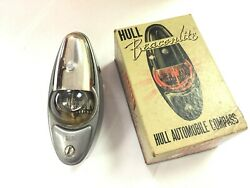 N.o.s Hull Beaconlite Automobile Compass For 1937-48 Chevy Car - Grey Primed